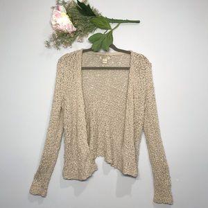 Lucky Brand | 100% Cotton Crochet Cardigan Size S